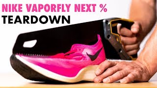 Cutting Open The Nike ZoomX Vaporfly Next% (You won't believe what's inside!!)