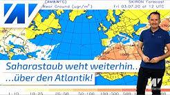 Historische Saharastaub-Wolke reicht weiterhin über den Atlantik bis in die USA!