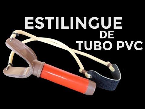 ESTILINGUE DE TUBO PVC - atiradeira, baladeira, bodoque, fisga, forquilha de cano pvc tube