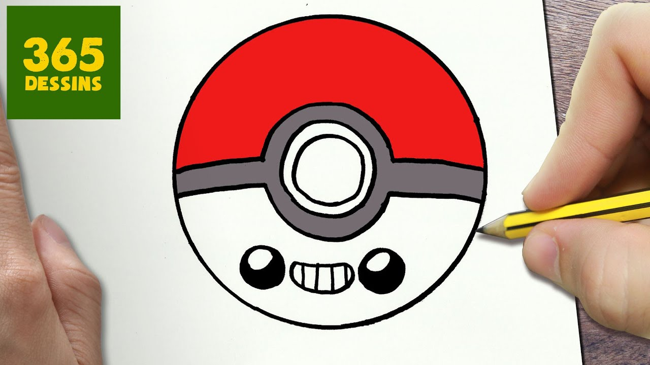 Comment Dessiner Pokeball Kawaii étape Par étape Dessins Kawaii Facile