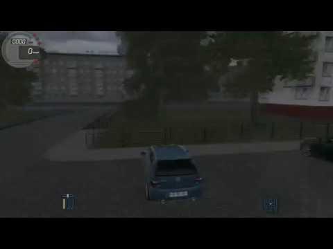 City Car Driving- Wolksvagen Golf (yağmurlu hava)
