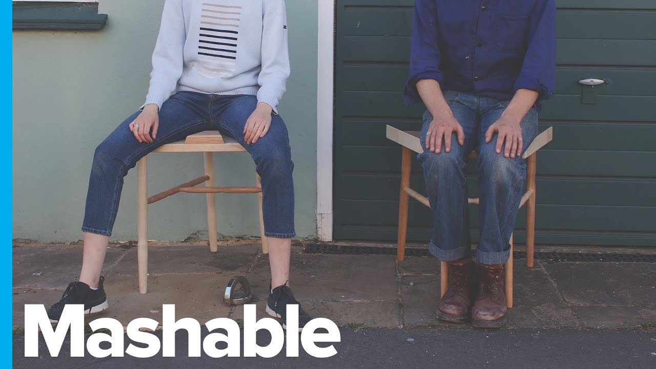 Anti Manspreading Chair Forces Men To Sit With Knees Together Youtube