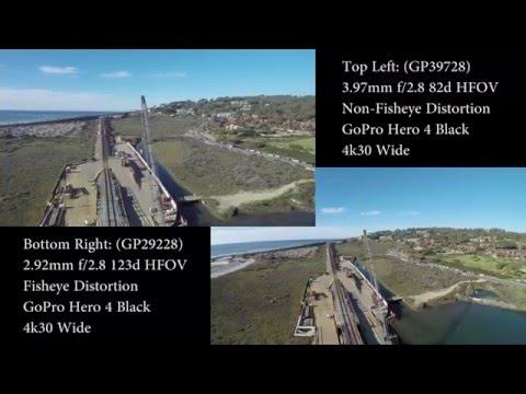 Lens Compare: GoPro Hero 4 Black No-Fisheye 3.97mm vs Stock - Area Of Interest - Crane Orbit
