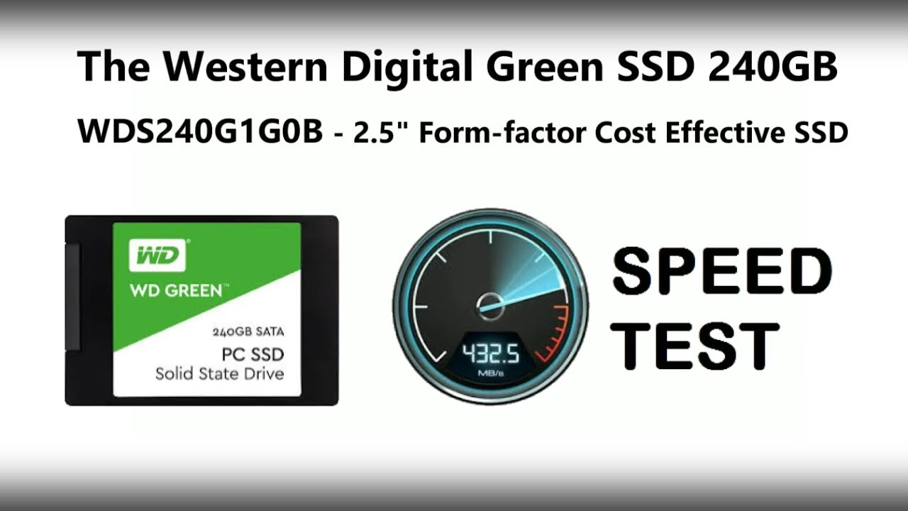 The WD Green 240GB m.2 SSD Speed Test with BlackMagic WDS240G1G0B