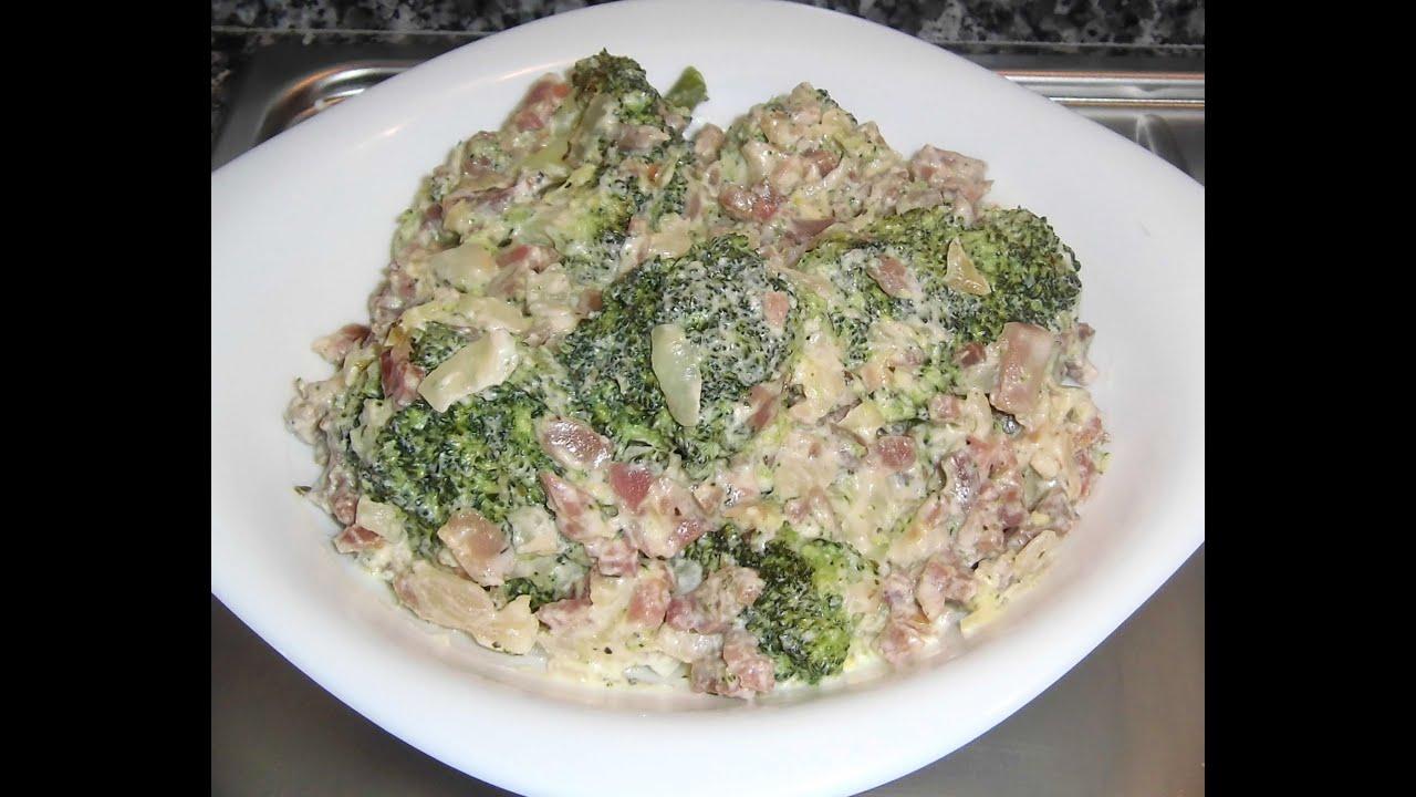 Br coli con jam n youtube for Cocinar habas con jamon