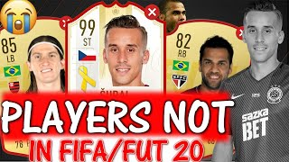 FIFA 20   PLAYERS NOT IN FIFA 20!! FT. SURAL, DANI ALVES, LUIS ETC... (FIFA 20 MISSING PLAYERS)