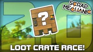Multiplayer Loot Crate Building Challenge 2.0! (Scrap Mechanic #246)