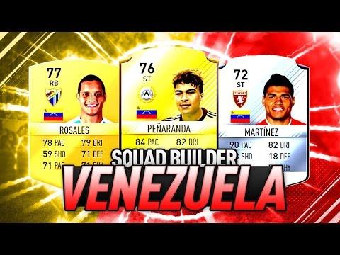 FIFA 17 | SQUAD BUILDER VENEZUELA | EL MEJOR EQUIPO DE LA VINOTINTO EN FUT !!