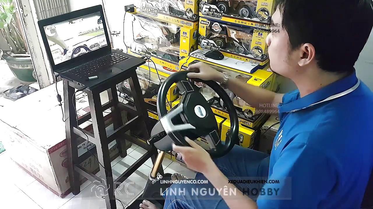 Test vô lăng tập lái xe – chơi game đua xe – City Car Driving – Project Cars 2
