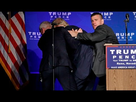 BREAKING: Trump Rushed Off Stage By Secret Service -  FULL E