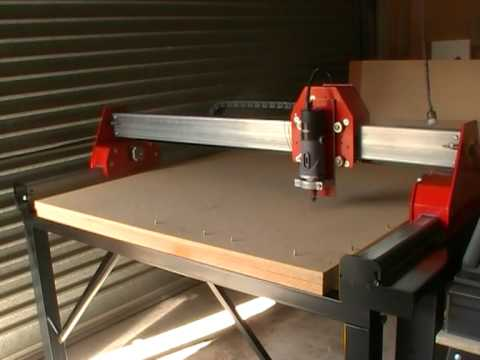 My Home Built 3 Axis Cnc Router Test Run Youtube