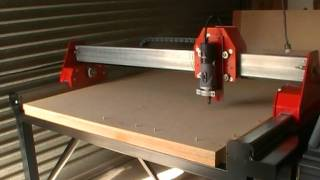 My Home Built 3 Axis Cnc Router. Test Run