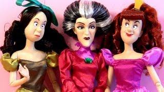 Bonecas Disney Cinderella, Prince Charming, Fada-Madrinha, Drizella, Anastasia  (em Portugues)