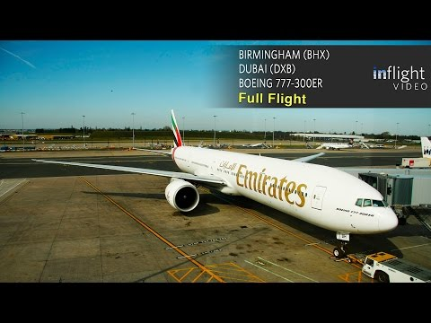Emirates Boeing 777-300ER Full Flight | Birmingham to Dubai | EK42