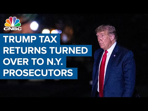 Trump's tax returns are now in the hands of New York prosecutors - CNBC Television