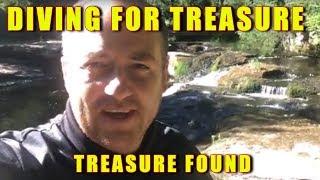 MUDLARKING AND DIVING FOR RIVER TREASURE RELICS & REAL TREASURE FOUND