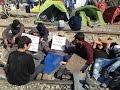 Syrians Protesting At Greek-Macedonian Border