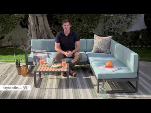 Belham Living Edgewood Metal Patio Sectional With Coffee Table