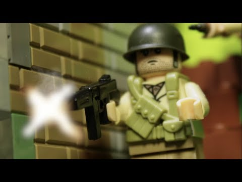 """видео: LEGO WW2 NORMANDY """"БРАТЬЯ ПО ОРУЖИЮ"""" мультфильм о войне"""