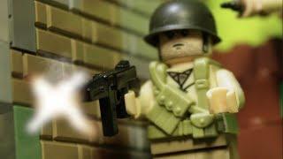 """LEGO WW2 NORMANDY """"БРАТЬЯ ПО ОРУЖИЮ"""" мультфильм о войне"""