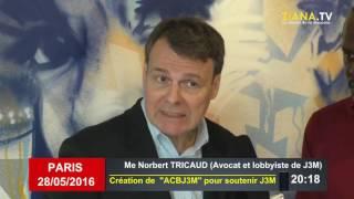 DIASPORA. Association des amis de J3M: Me Norbert Tricaud à la manoeuvre