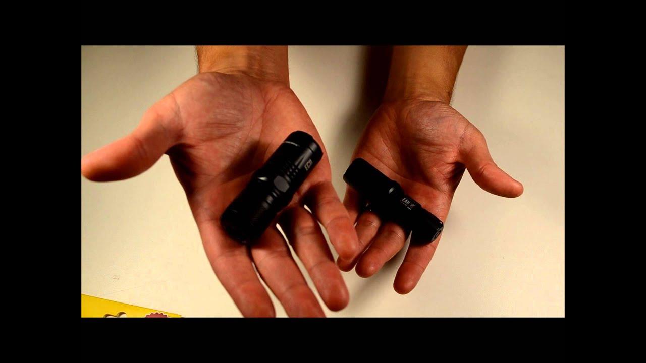 Nitecore EA11 & EC11 LED Flashlight Unboxing and Review ...