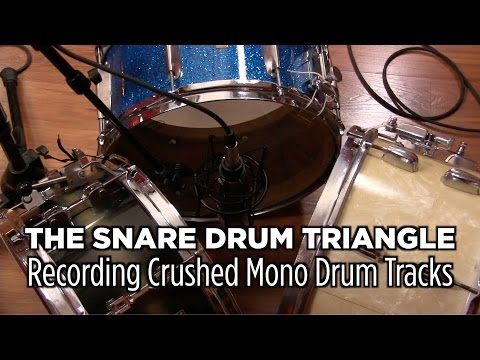 The Snare Drum Triangle Trick - Recording Mono Crushed Drums | with Dylan Wissing