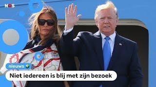 Trump is drie dagen op visite in Groot-Brittannië
