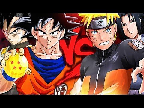 Goku E Vegeta Vs Naruto E Sasuke Duelo De Titas 7 Minutoz