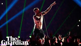Maroon 5 strip back: Super Bowl half-time show highlights