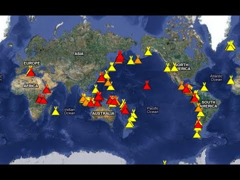 List of Active DANGER AREAS Right NOW-Active Volcanoes-Earthquakes-Prophecy 10 am LIVE
