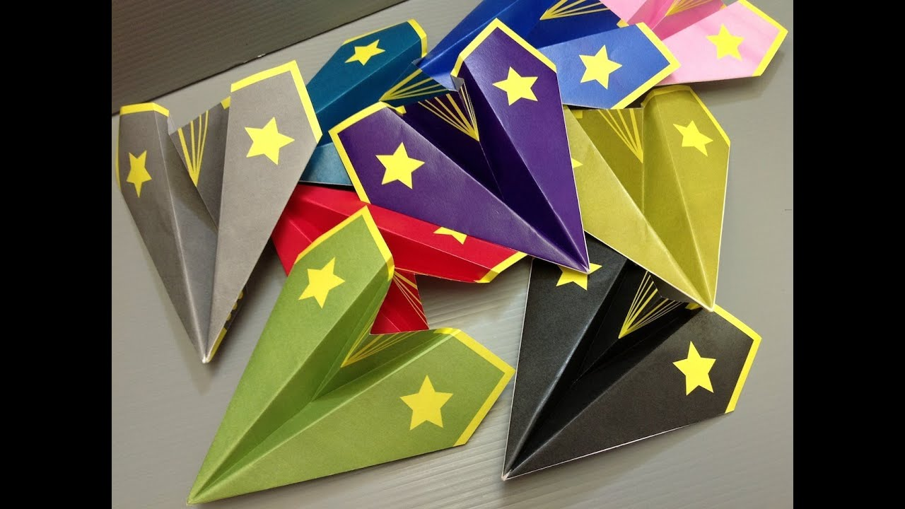 Free Origami Airplane Paper