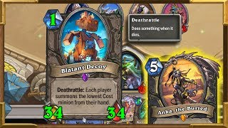 Hearthstone: 1 Mana 34/34   Huge Minions   Anka Deathrattle Rogue   Saviors Of Uldum NewDecks