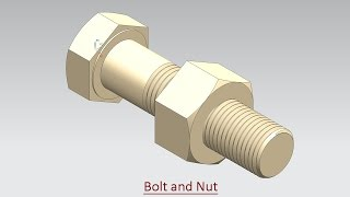 Bolt and Nut (Video Tutorial) Siemens-NX