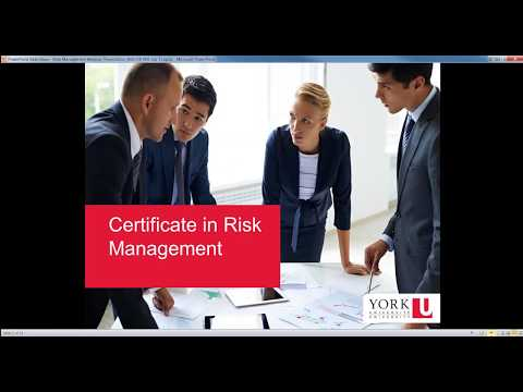 Certificate In Risk Management Information Session