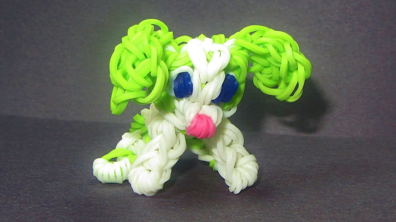 Bevorzugt Rainbow Loom Charm: DOG Puppy: How to make Loom Bands Tutorial  MM94
