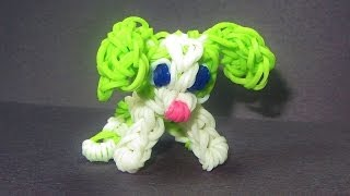 Repeat youtube video Rainbow Loom Charm: DOG Puppy:  How to make Loom Bands Tutorial