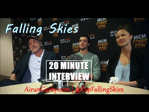 SPOILERS Falling Skies 20 Minute Interview Drew Roy, Moon Bloodgood, Will Patton