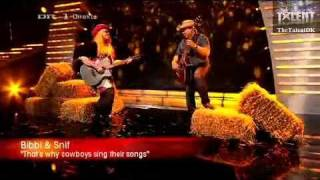 DK Talent 2010 [LIVE 1] Bibbi & Snif - That's why Cowboys sing their songs