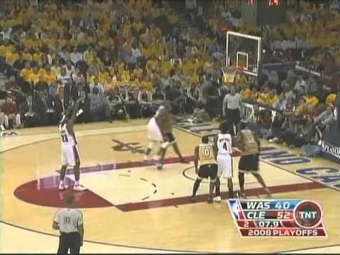 LeBron James 2008 Playoffs: 30/9/12 vs. Washington Wizards.