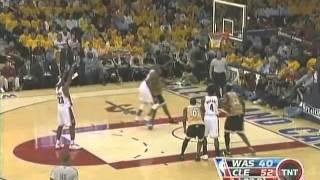 LeBron James 2008 Playoffs: 30/9/12 vs. Washington Wizards.