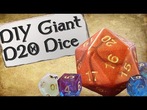 How to Make Your Own Dice | Giant d20