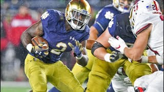 Dexter Williams RB#2 Notre Dame Fighting Irish vs Stanford 2018