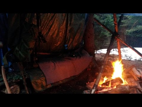 Solo Overnight! Cold With Good Food & A Warm Fire!