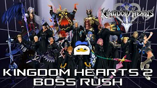 Kingdom Hearts 2 Final Mix BOSS RUSH | Hacked Cup Level 99