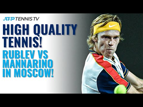 High-Quality Match Between Andrey Rublev & Adrian Mannarino!   Moscow 2021 Round 2