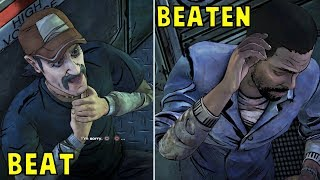 Fight Kenny vs Convince Him To Stop The Train -All Choices- The Walking Dead