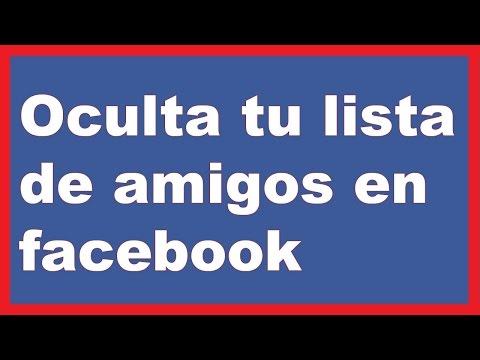 como ocultar la lista amigos en facebook (2017) desde celular