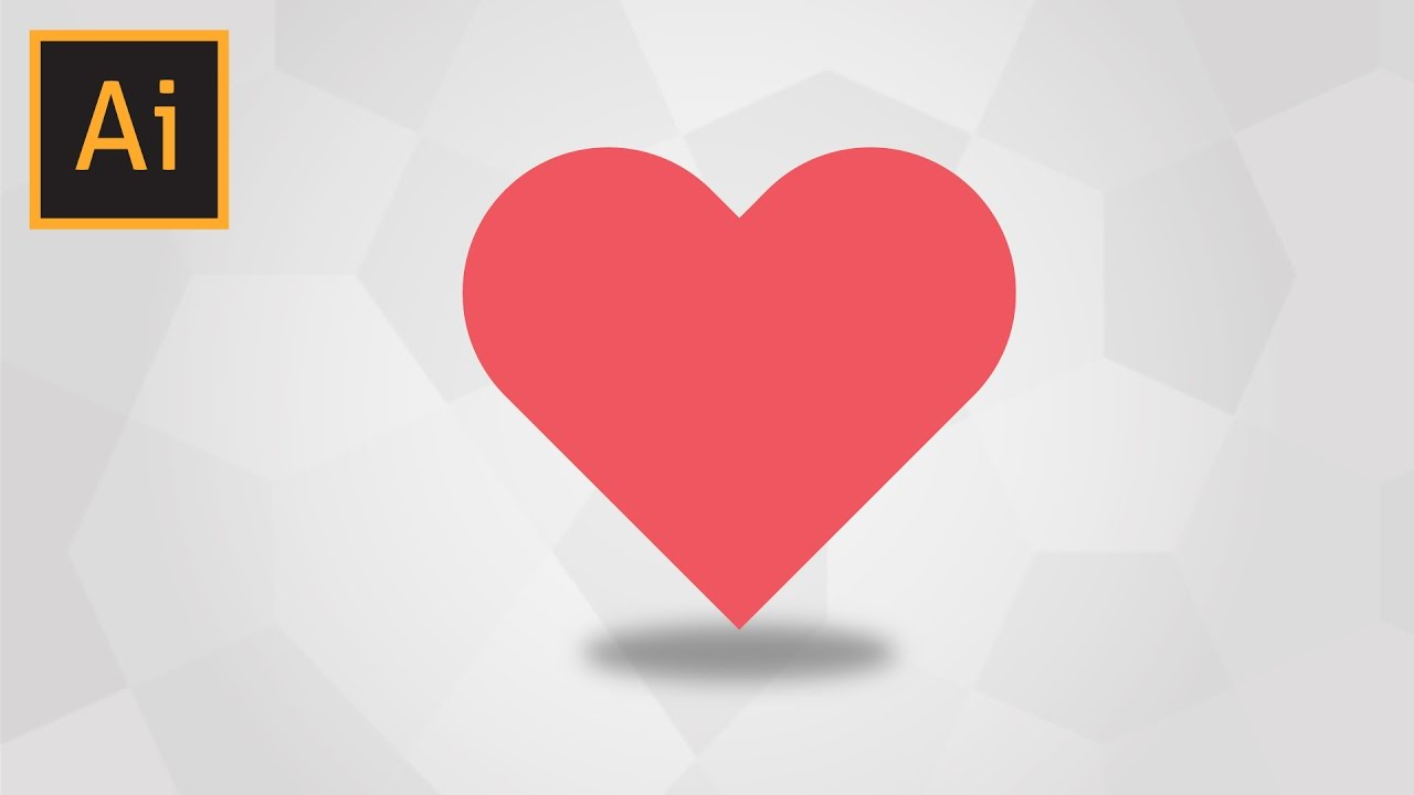 How To Draw A Simple Heart In Adobe Illustrator Youtube
