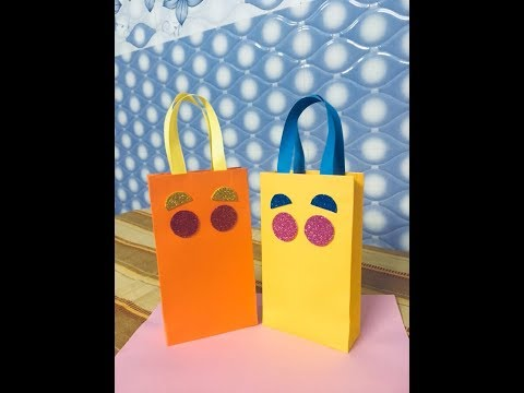 How to Make Paper Bag at Home || Handmade Paper Gifts Bags
